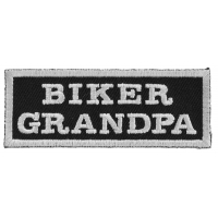 Biker Grandpa Patch | Embroidered Patches