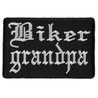 Biker Grandpa Patch In Old English