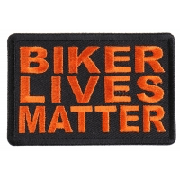 Biker Lives Matter Orange Patch