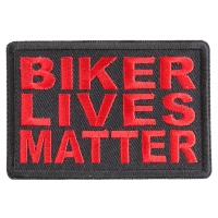 Biker Lives Matter Red Patch