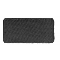 Black 4 Inch Rectangular Blank Patch | Embroidered Patches
