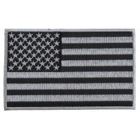 Black and Gray American Flag Patch