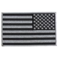 Black and Gray American REVERSED Flag Patch