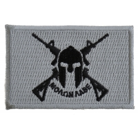 Black And Gray Come And Take It Molon Labe Spartan Crossed Rifles Patch