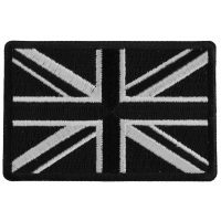 Black and White UK Flag Patch