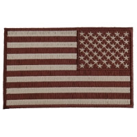 Brown Subdued American REVERSED Flag Patch