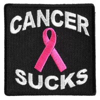 Cancer Sucks Patch | Embroidered Patches