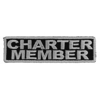 Charter Member Patch White