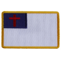 Christian Flag Small Patch | Embroidered Patches