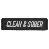Clean And Sober Patch | Embroidered Patches