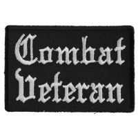 Combat Veteran Patch In Old English