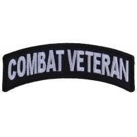 Combat Veteran Small Rocker Patch | US Military Veteran Patches