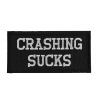 Crashing Sucks Patch | Embroidered Patches