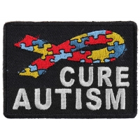 Cure Autism Puzzle Pieces Ribbon Patch | Embroidered Patches
