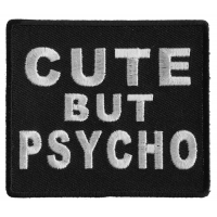 Cute But Psycho Patch | Embroidered Patches