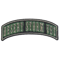 Desert Storm Vet Rocker Small Patch | US Military Veteran Patches