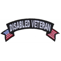 Disabled Veteran Patch With US Flags | US Military Veteran Patches