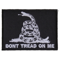 Don't Tread On Me Black White Patch | US Military Veteran Patches
