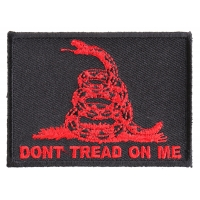 Don't Tread On Me Gadsden Flag Red Over Black Patch | US Military Veteran Patches