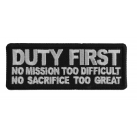 Duty First No Mission too difficult no Sacrifice too Great Patch