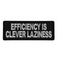 Efficiency is Clever Laziness Patch