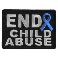 End Child Abuse Blue Ribbon Patch | Embroidered Patches