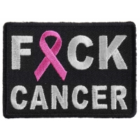 FCK Cancer Pink Ribbon Patch | Embroidered Patches