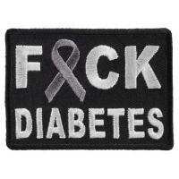 FCK Diabetes Gray Ribbon Patch | Embroidered Patches