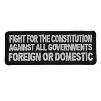 Fight For The Constitution Patch | US Military Veteran Patches