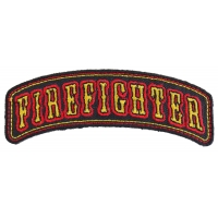 Firefighter Rocker Small Patch | Embroidered Patches