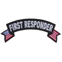First Responder US Flag Small Rocker Patch | Embroidered Patches