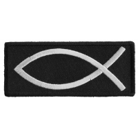 Fish Sign Patch | Embroidered Patches