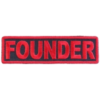 Founder Patch Red