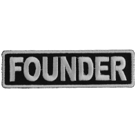 Founder Patch 3.5 Inch White