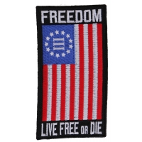 Freedom Nyberg Flag Patch Live Free Or Die | Embroidered Patches