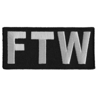 Ftw Patch Block Letters | Embroidered Patches