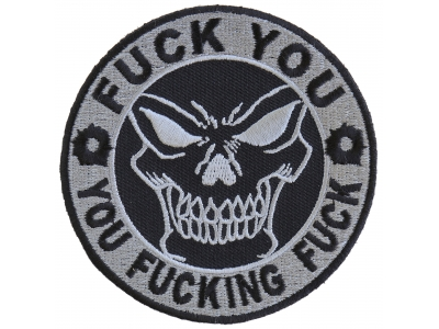 FUCK YOU you FUCKING FUCK Free Rider Biker Aufn/äher Patch Abzeichen SW