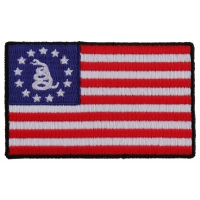 Gadsden American Flag Patch   Embroidered Patches