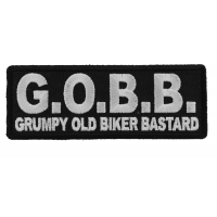 GOBB Grumpy Old Biker Bastard Patch