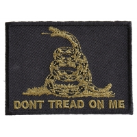 Green Black Gadsden Flag Patch | US Military Veteran Patches