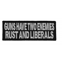 Guns Have Two Enemies Patch | Embroidered Patches