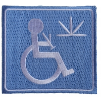Handicap Stoner With Bong Patch | Embroidered Pot Patches