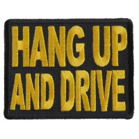 Hang Up And Drive Patch | Embroidered Biker Patches