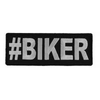 Hashtag Biker Patch