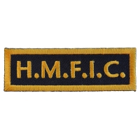 HMFIC Head Mother Fucker In Charge Patch | Embroidered Patches