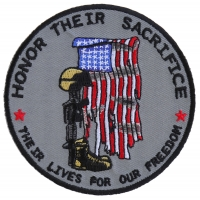 Honor Their Sacrifice Memorial Patch | US Military Veteran Patches