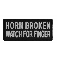 Horn Broken Watch For Finger Patch | Embroidered Patches