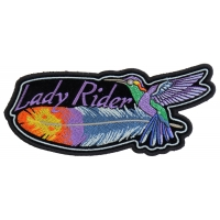 Hummingbird Lady Rider Feather Small Patch