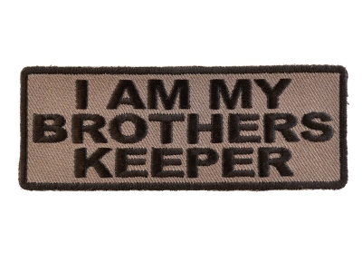 I Am My Brothers Keeper Patch In Black Over Gray Veteran