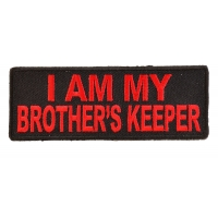 I Am My Brother's Keeper Patch In Red | US Military Veteran Patches